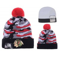 NHL Chicago Blackhawks Logo Stitched Knit Beanies 07