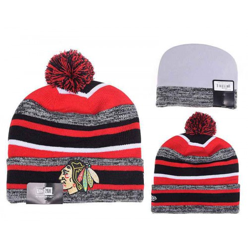 NHL Chicago Blackhawks Logo Stitched Knit Beanies 08