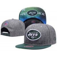 New York Jets Charcoal Gray Snapback Hats Galaxy UnderBrim