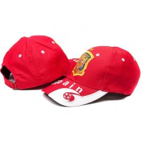 Spain Red Soccer Hat