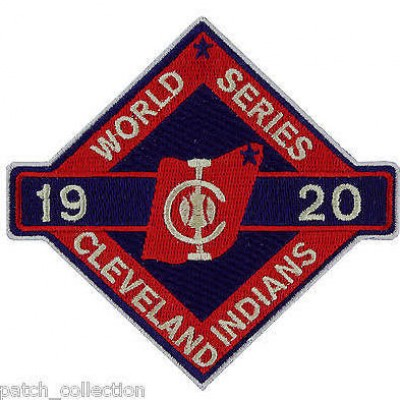 1920 Mlb World Series Championship Cleveland Indians Patch
