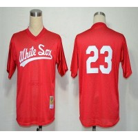 1990 Mitchell And Ness White Sox #23 Robin Ventura Red Throwback Stitched Baseball Jersey