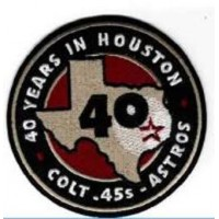 2001 Houston Astros 40th Anniversary Patch