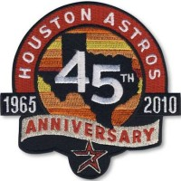 2010 Houston Astros 45th Anniversary Patch