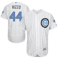 Chicago Cubs #44 Anthony Rizzo White(Blue Strip) Flexbase Authentic Collection Father's Day Stitched MLB Jersey