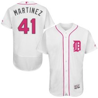 Detroit Tigers #41 Victor Martinez White Flexbase Authentic Collection Mother's Day Stitched MLB Jersey