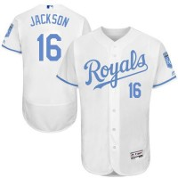 Kansas City Royals #16 Bo Jackson White Flexbase Authentic Collection Father's Day Stitched MLB Jersey