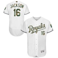 Kansas City Royals #16 Bo Jackson White Flexbase Authentic Collection Memorial Day Stitched MLB Jersey