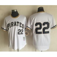 Mitchell And Ness 1971 Pittsburgh Pirates #22 Andrew McCutchen White Throwback Stitched MLB Jersey