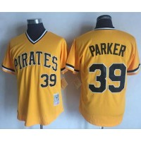 Mitchell and Ness Pittsburgh Pirates #39 Dave Parker Stitched Yellow Throwback MLB Jersey