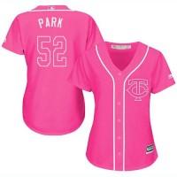 Women's Minnesota Twins #52 Byung-Ho Park Pink Fashion Stitched MLB Jersey