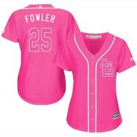 Women's St. Louis Cardinals #25 Dexter Fowler Pink Fashion Stitched MLB Jersey