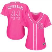 Women's St. Louis Cardinals #44 Trevor Rosenthal Pink FashionStitched MLB Jersey