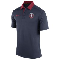 Men's Minnesota Twins Nike Navy Authentic Collection Dri-FIT Elite Polo