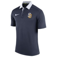 Men's San Diego Padres Nike Navy Authentic Collection Dri-FIT Elite Polo