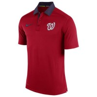 Men's Washington Nationals Nike Red Authentic Collection Dri-FIT Elite Polo