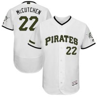 Men's Pittsburgh Pirates #22 Andrew McCutchen White Flexbase Authentic Collection Memorial Day Stitched MLB Jersey
