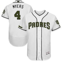 Men's San Diego Padres #4 Wil Myers White Flexbase Authentic Collection Memorial Day Stitched MLB Jersey