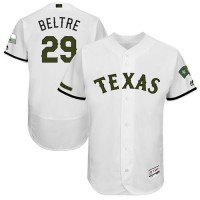 Men's Texas Rangers #29 Adrian Beltre White Flexbase Authentic Collection Memorial Day Stitched MLB Jersey