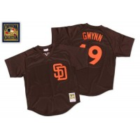 Mitchell And Ness 1985 San Diego Padres #19 Tony Gwynn Brown Throwback Stitched MLB Jersey