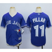 Blue Jays #11 Kevin Pillar Blue Cool Base Stitched Youth MLB Jersey