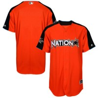 Men's National League Majestic Customized Orange 2017 MLB All-Star Game Authentic On-Field Home Run Derby Team Jersey