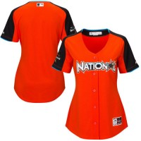 Women's National League Majestic Customized Orange 2017 MLB All-Star Game Home Run Derby Team Jersey
