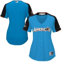 Women's American League Majestic Customized Blue 2017 MLB All-Star Game Home Run Derby Team Jersey