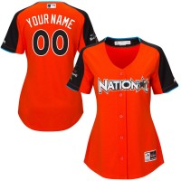 Women's National League Majestic Orange 2017 MLB All-Star Game Personalized Home Run Derby Jersey