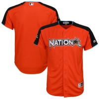 Youth National League Majestic Customized Orange 2017 MLB All-Star Game Home Run Derby Team Jersey