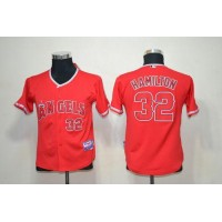 Angels #32 Josh Hamilton Red Cool Base Stitched Youth Baseball Jersey