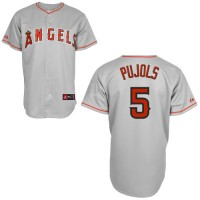 Angels #5 Albert Pujols Grey Stitched Youth Baseball Jersey