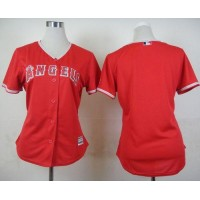Angels Blank Red Alternate Women's Stitched Baseball Jersey