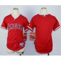 Angels Blank Red Cool Base Stitched Youth Baseball Jersey