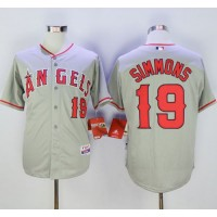Angels of Anaheim #19 Andrelton Simmons Grey Cool Base Stitched Baseball Jersey