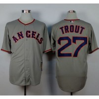 Angels of Anaheim #27 Mike Trout Grey 1965 Turn Back The Clock Stitched Baseball Jersey