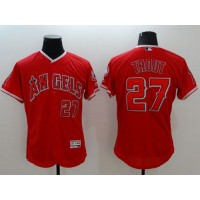 Angels of Anaheim #27 Mike Trout Red Flexbase Authentic Collection Stitched Baseball Jersey