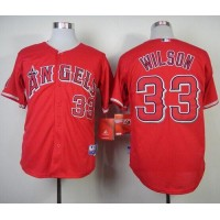 Angels of Anaheim #33 C.J. Wilson Red Cool Base Stitched Baseball Jersey