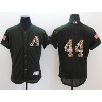 Arizona Diamondbacks #44 Paul Goldschmidt Green Flexbase Authentic Collection Salute to Service Stitched Baseball Jersey