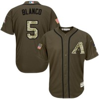Arizona Diamondbacks #5 Gregor Blanco Green Salute to Service Stitched MLB Jersey