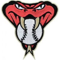 Arizona Diamondbacks Snake Head Patch (Tan Border)
