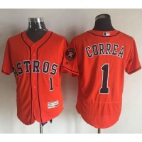 Astros #1 Carlos Correa Orange Flexbase Authentic Collection Stitched Baseball Jersey