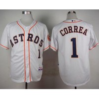 Astros #1 Carlos Correa White Cool Base Stitched Baseball Jersey