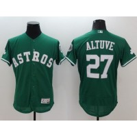 Astros #27 Jose Altuve Green Celtic Flexbase Authentic Collection Stitched Baseball Jersey