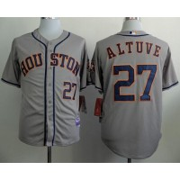 Astros #27 Jose Altuve Grey Cool Base Stitched Baseball Jersey