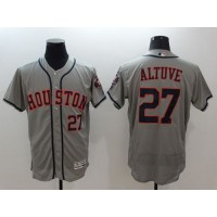 Astros #27 Jose Altuve Grey Flexbase Authentic Collection Stitched Baseball Jersey