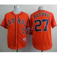 Astros #27 Jose Altuve Orange Cool Base Stitched Baseball Jersey