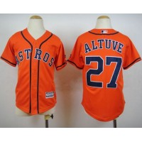 Astros #27 Jose Altuve Orange Cool Base Stitched Youth Baseball Jersey