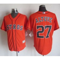 Astros #27 Jose Altuve Orange New Cool Base Stitched Baseball Jersey