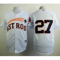 Astros #27 Jose Altuve White 1965 Turn Back The Clock Stitched Baseball Jersey